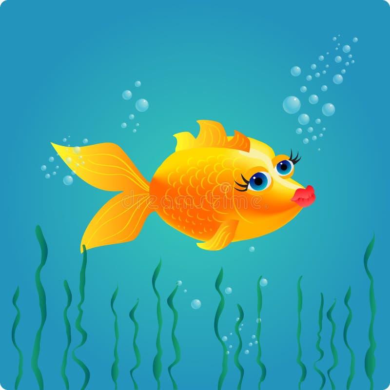 goldfish ładny ilustracja wektor
