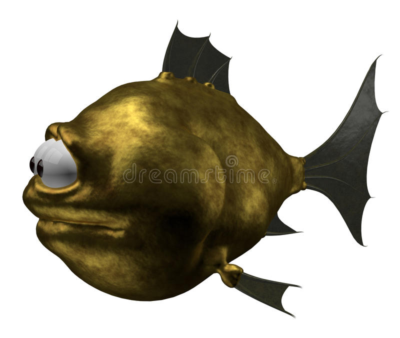 goldfish περίεργα απεικόνιση αποθεμάτων