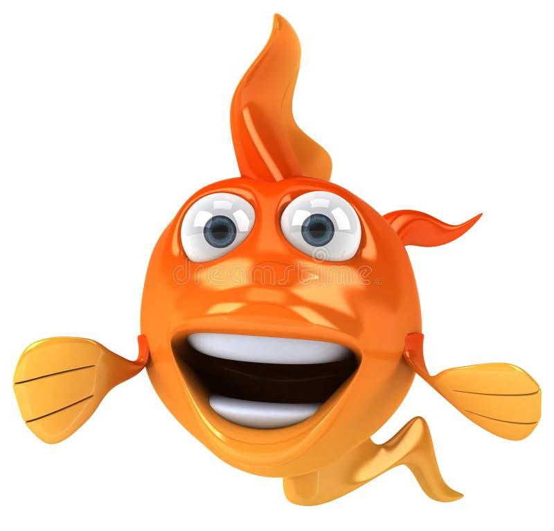 Goldfish ilustração do vetor