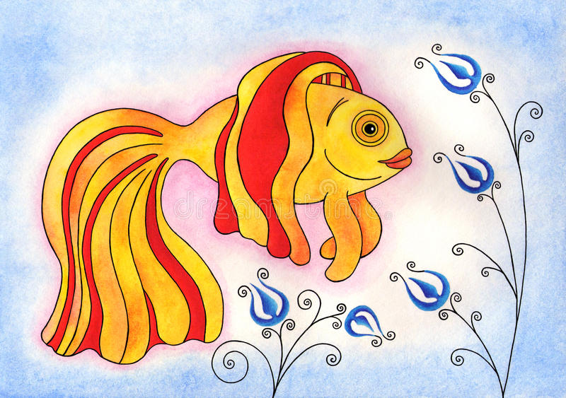 goldfish royalty ilustracja