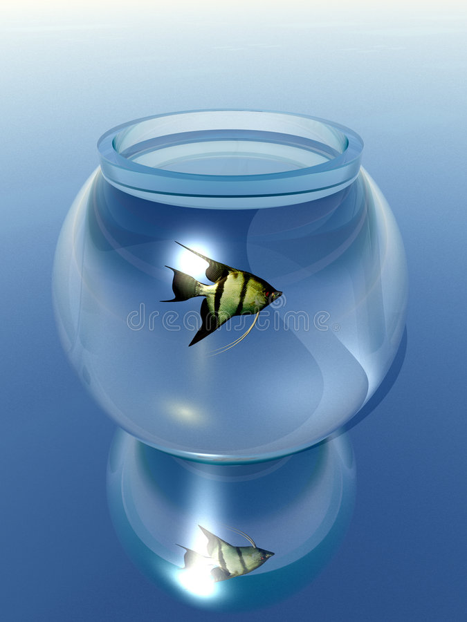 Goldfish Bowl. This is a Goldfish bowl stock illustration