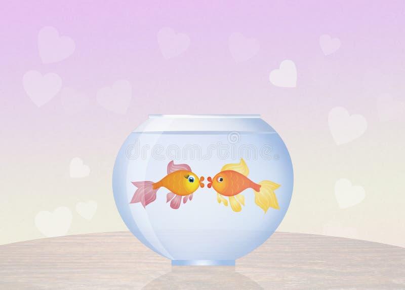 Goldfish in bowl. Illustration of goldfish in bowl vector illustration
