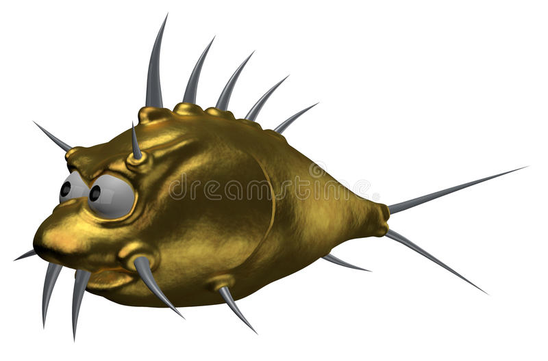 Goldfish dos Prickles ilustração stock
