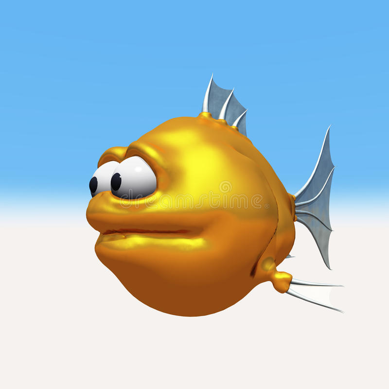 Goldfish extraño ilustración del vector