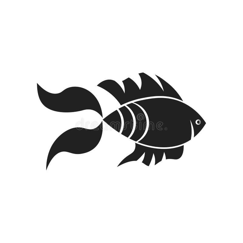 Goldfish icon vector sign and symbol isolated on white background, Goldfish logo concept royalty free illustration