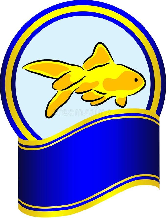 Goldfish Label Stock Photo