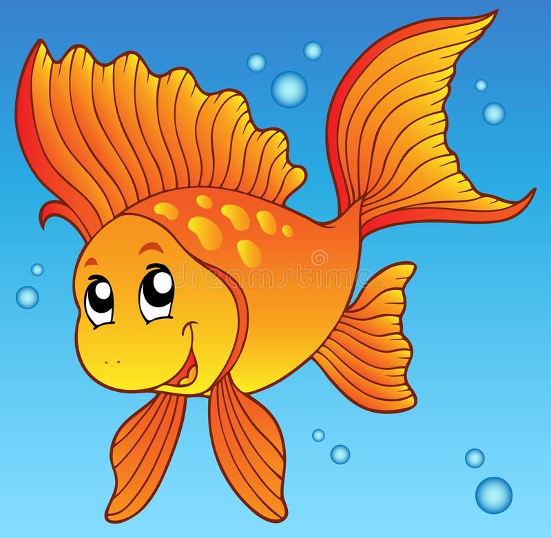 Goldfish lindo en agua libre illustration