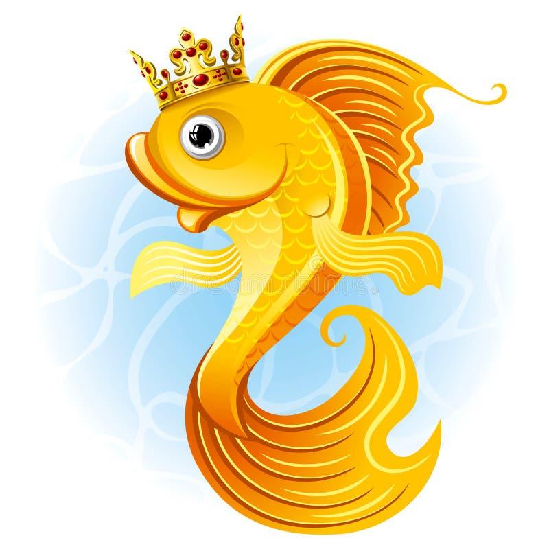 Goldfish mágico ilustración del vector
