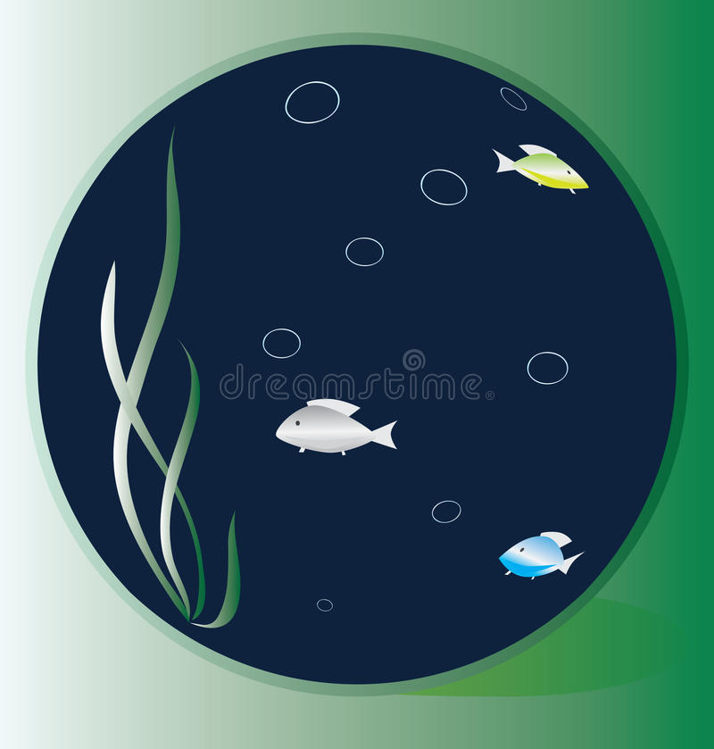 Download Goldfish In A Round Aquarium Stock Vector - Image: 9741163