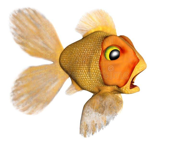 Goldfish terrificado ilustração stock