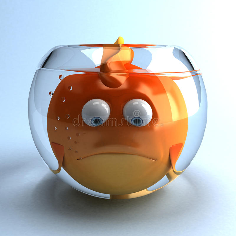 Goldfish triste illustration de vecteur