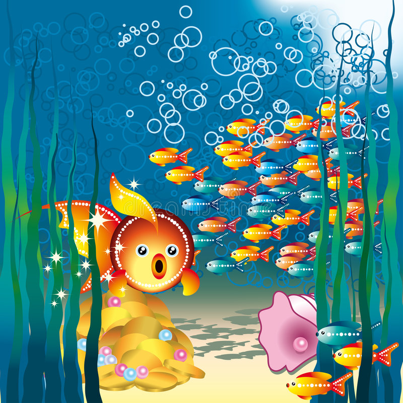 Goldfishes vector illustration