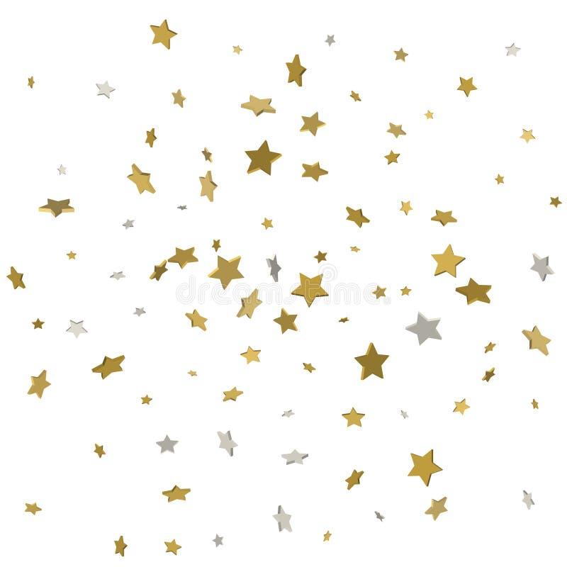 Goldfliegen spielt Rahmenvektor der Konfettis den magischen Weihnachtsxxxx_1, erstklassig vektor abbildung