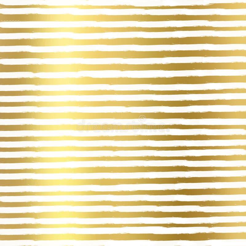 Goldfolie zeichnet auf weißem Hintergrund, Goldbeschaffenheit Goldfolie zeichnet Muster Goldfolie zeichnet geometrische Tapete stock abbildung