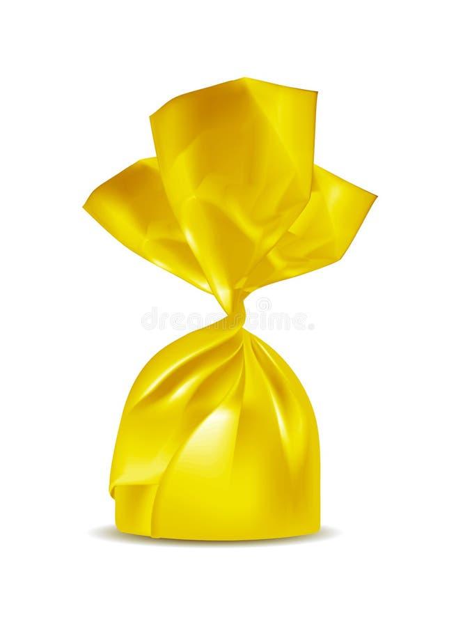 Goldfolien-Nahrungsmittelimbisssatz für Süßigkeit und andere Produkte lizenzfreie abbildung