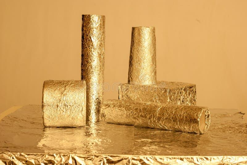 Goldfolienzahlen stockfotos