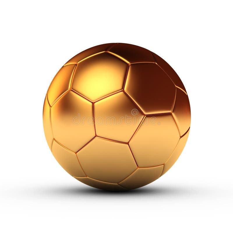 Goldfußball stock abbildung