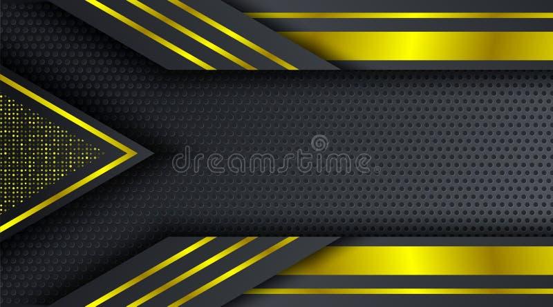 Goldfunkeln techno Firmenkundengeschäfthintergrundentwurfsschablone stockfoto