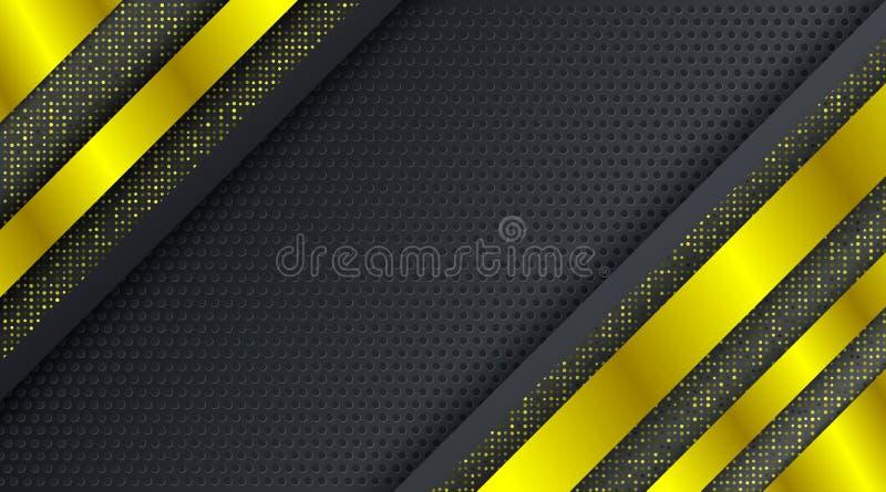 Goldfunkeln techno Firmenkundengeschäfthintergrundentwurfsschablone lizenzfreies stockfoto
