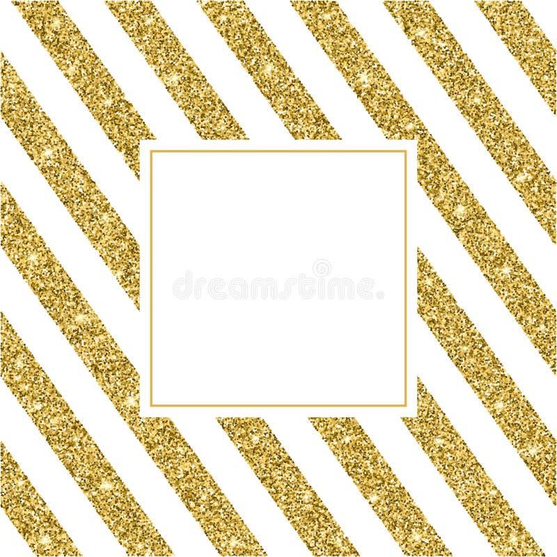 Goldfunkeln und heller Sand, weißer Hintergrund lizenzfreie abbildung