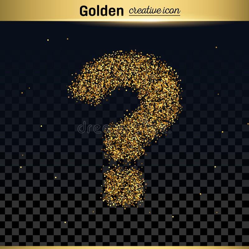 Goldfunkeln-Vektorikone stock abbildung