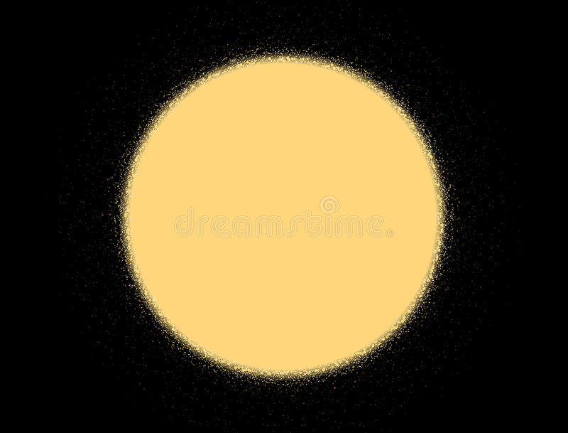 Goldfunkelnbeschaffenheit auf einem schwarzen Hintergrund Goldene Sonne Goldene abstrakte Beschaffenheit auf einem schwarzen Hint vektor abbildung
