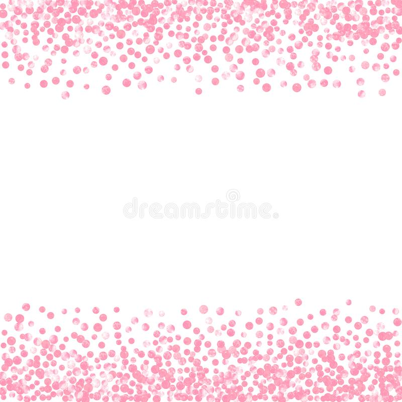 Goldfunkelnkonfettis mit Punkten vektor abbildung
