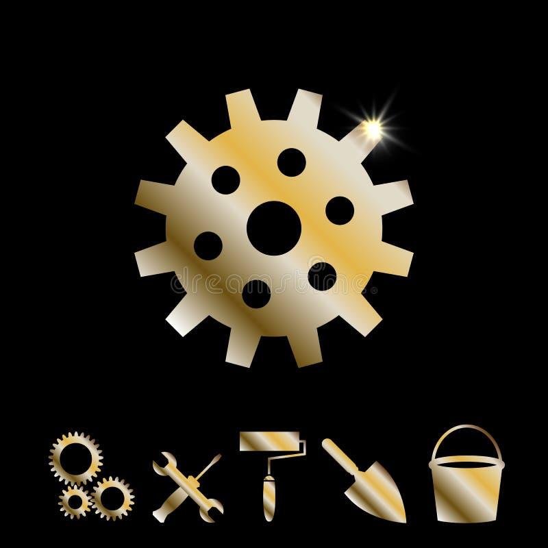 Goldgang-Vektor-Ikone lizenzfreie abbildung