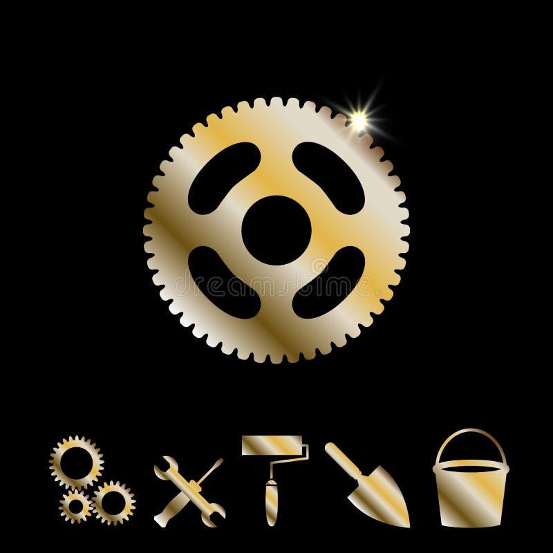 Goldgang-Vektor-Ikone vektor abbildung