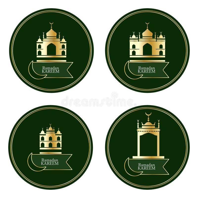 Goldgebäude-Kreissatz Ramandan Kareem Islam lizenzfreie abbildung