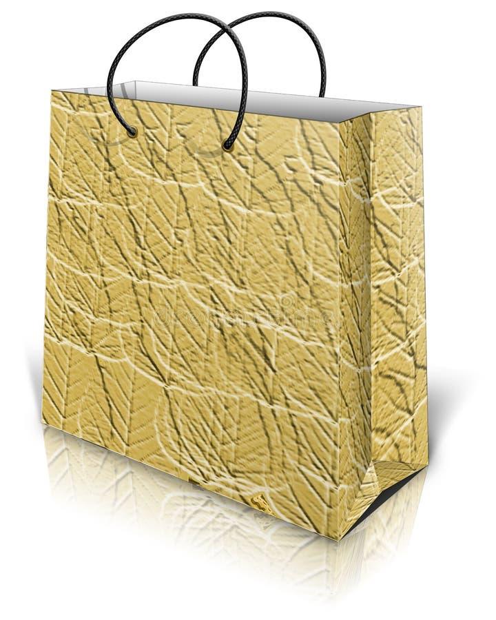 Goldgeschenktasche vektor abbildung