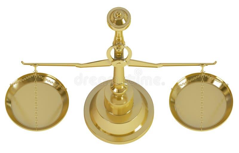 Download Goldgewicht-Skala stock abbildung. Illustration von gerechtigkeit - 26366992