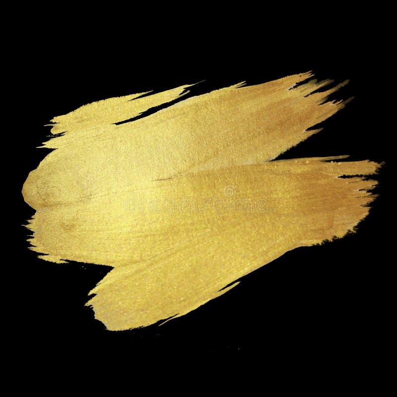 Goldglänzende Farben-Fleck-Hand gezeichnete Illustration stock abbildung