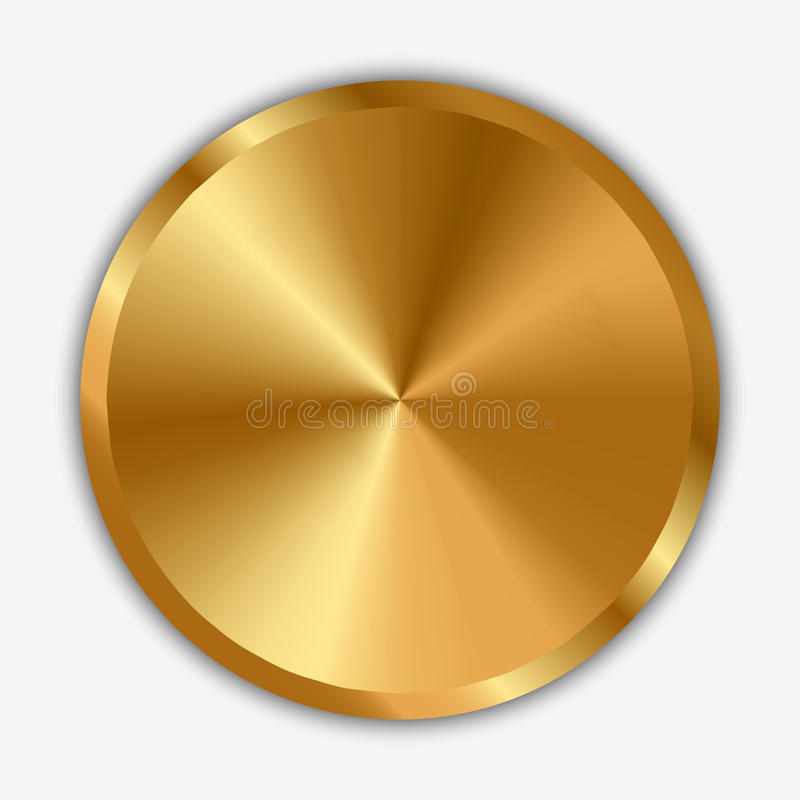 Goldgriff stock abbildung