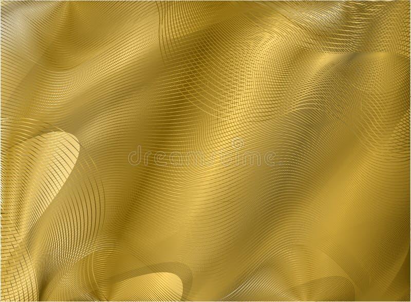 Goldguillocheelement lizenzfreie abbildung