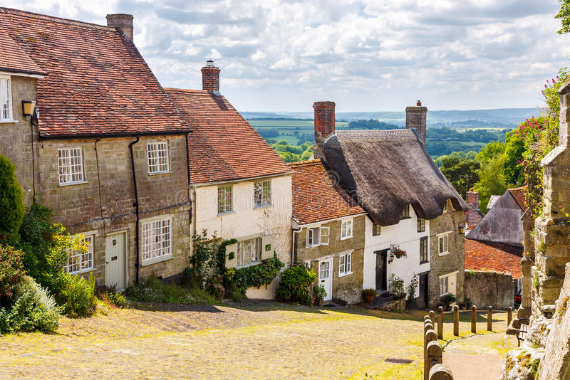 Goldhügel Shaftesbury Dorset stockbild