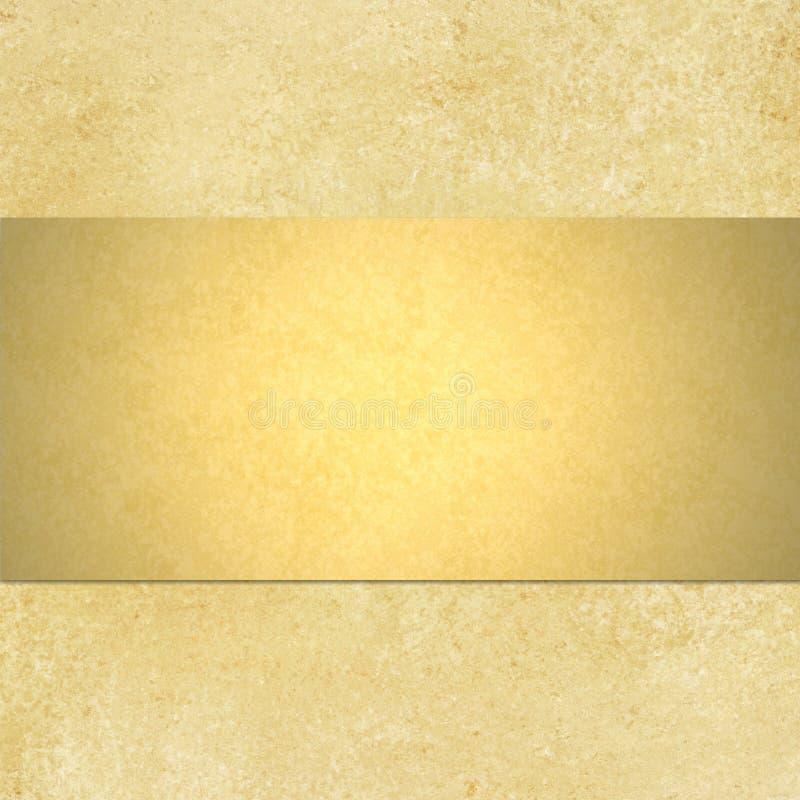 Goldhintergrund mit blnk Bandplan lizenzfreies stockfoto