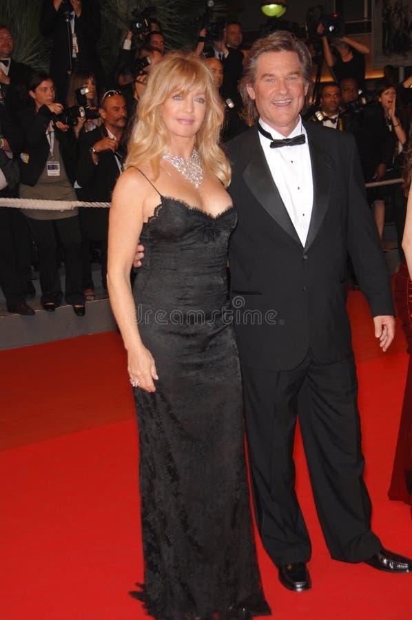 Goldie Hawn, Kurt Russell lizenzfreie stockfotografie