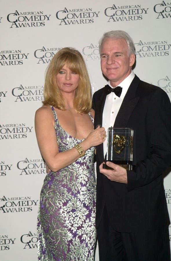 Goldie Hawn, Steve Martin στοκ εικόνες
