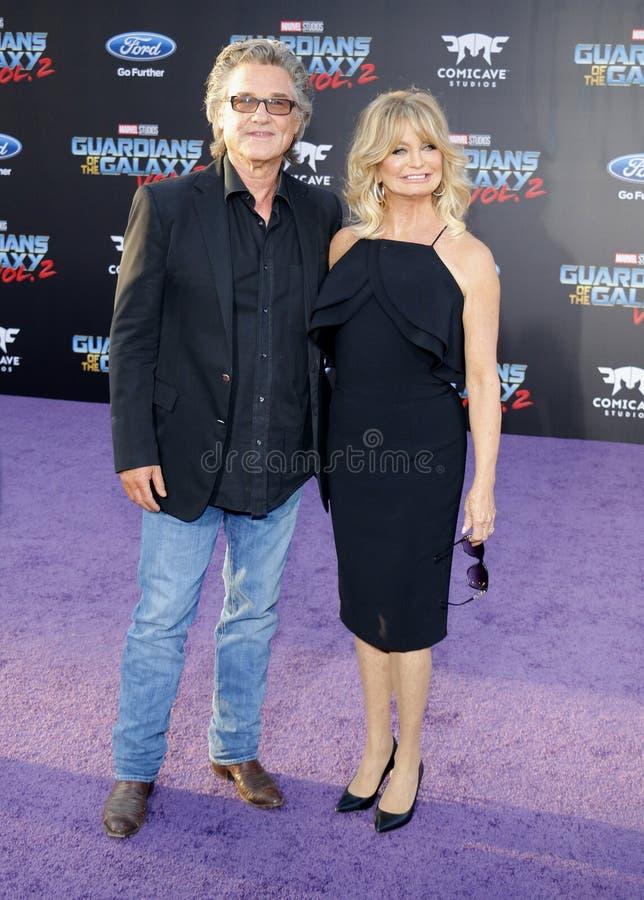 Goldie Hawn und Kurt Russell lizenzfreies stockfoto