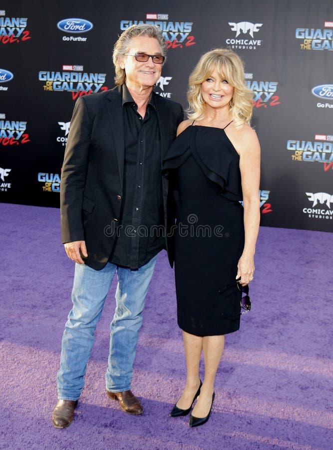 Goldie Hawn und Kurt Russell stockfotografie