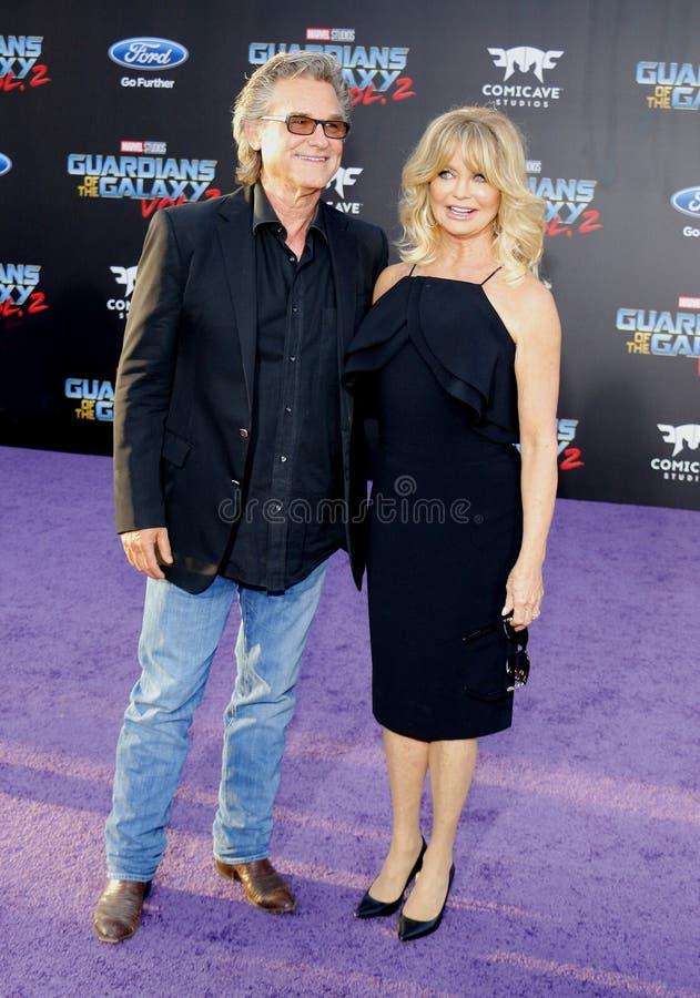 Goldie Hawn und Kurt Russell lizenzfreie stockfotografie