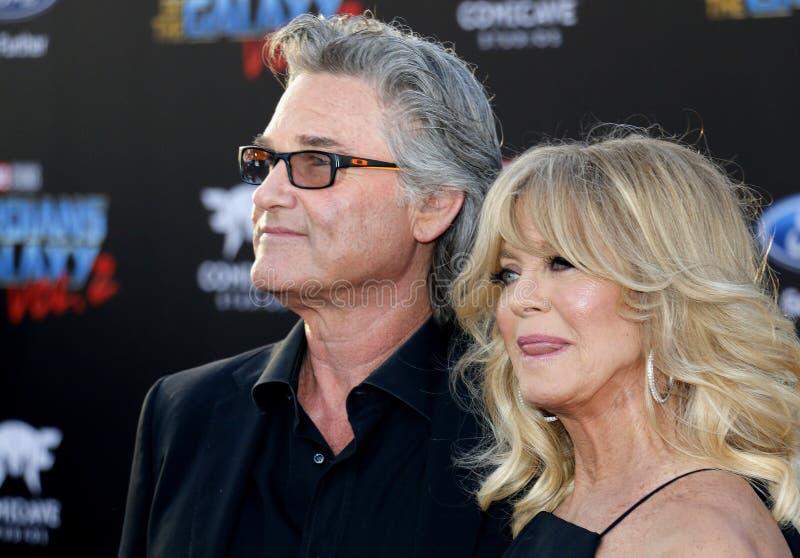 Goldie Hawn und Kurt Russell stockbilder