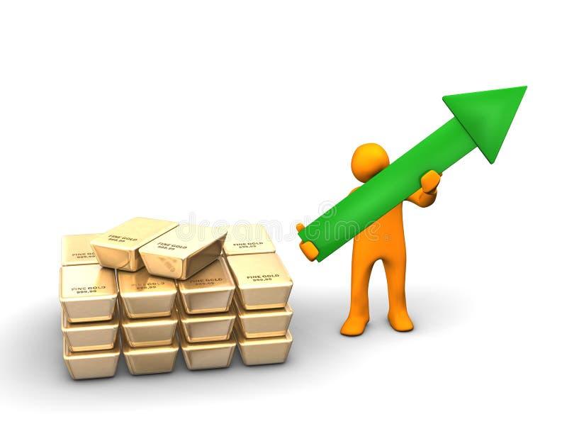Goldikonen-Wachstum lizenzfreie abbildung