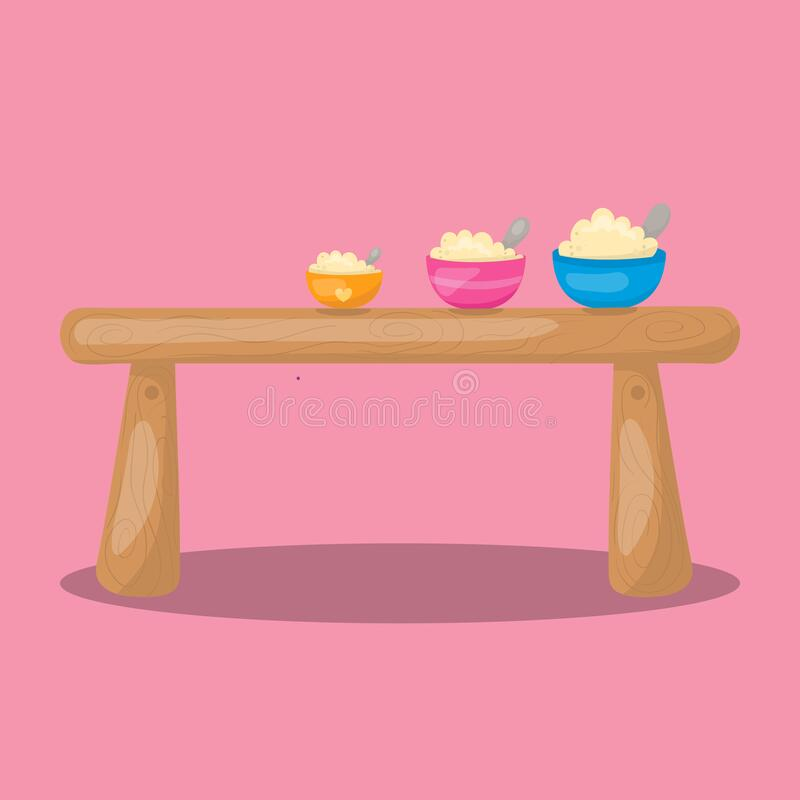 Free Goldilocks And The 3 Bear Wooden Chair 14 Stock Photography - 198987292