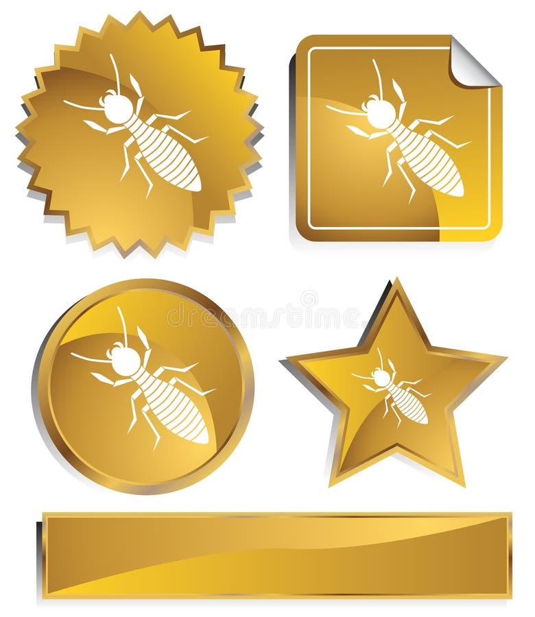goldish τερμίτες διανυσματική απεικόνιση