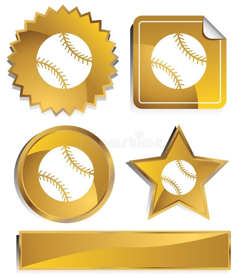 Download Goldish - basebol ilustração do vetor. Ilustração de dourado - 10059711