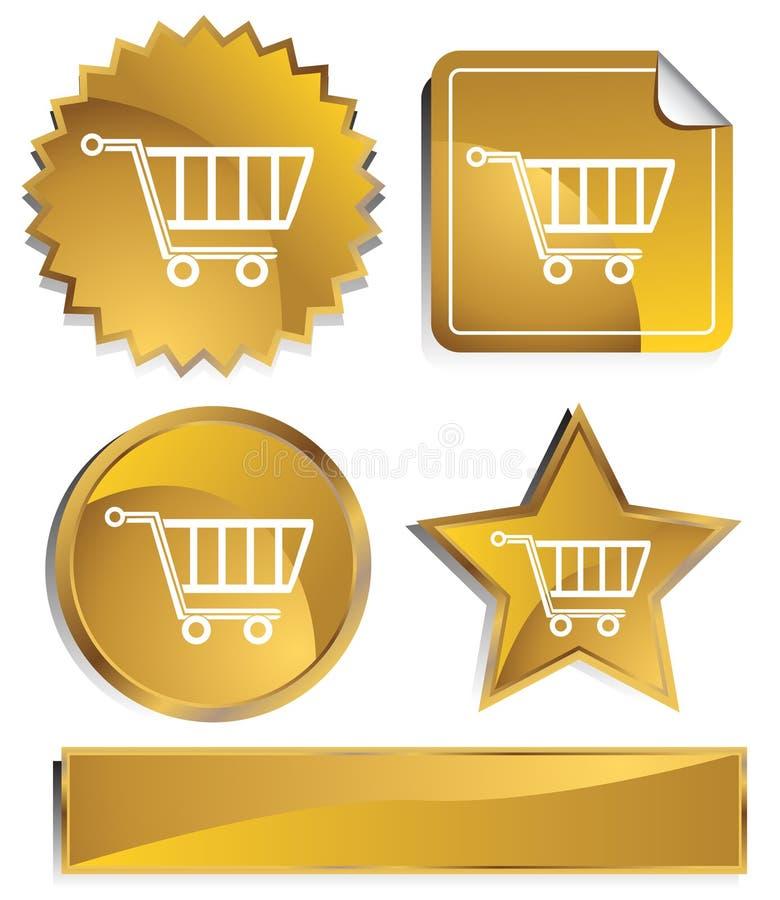 Goldish - carrello di acquisto illustrazione vettoriale