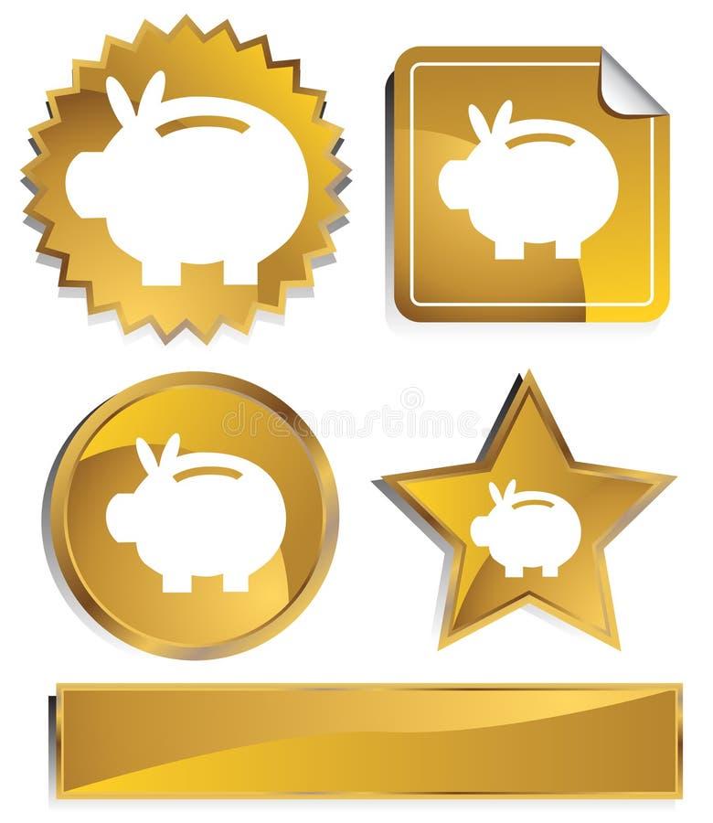 goldish de côté porcin illustration de vecteur