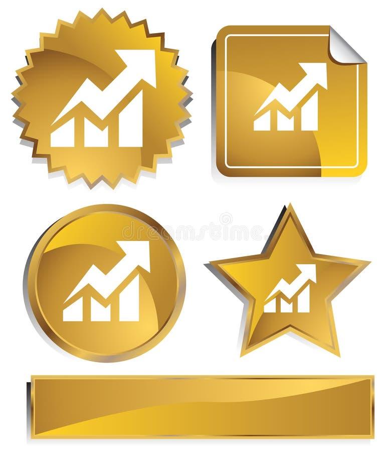 Goldish - de Stijging van de Voorraad royalty-vrije illustratie